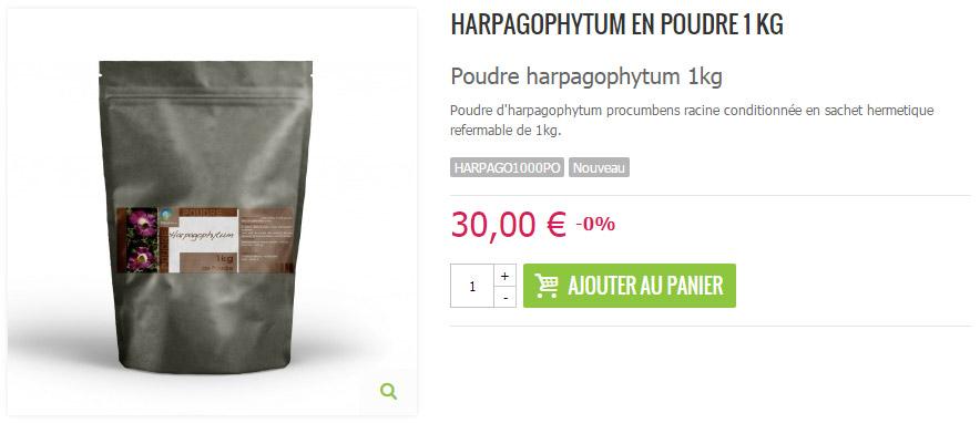 Poudre d'harpagophytum 1kg