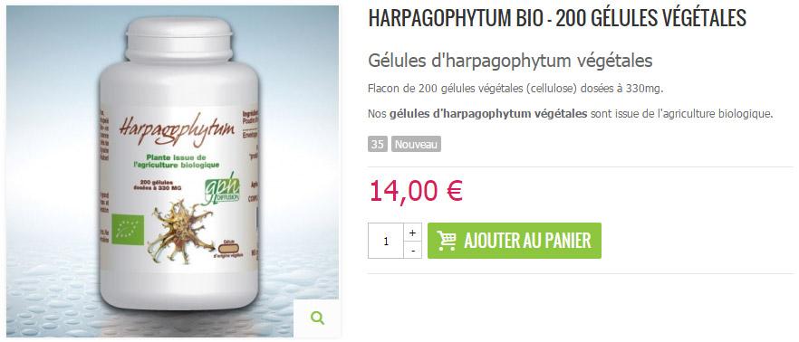 Gélules d'harpagophytum Bio